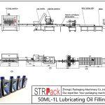 Avtomatik 50ML-1L sürtkü yağ doldurma xətti