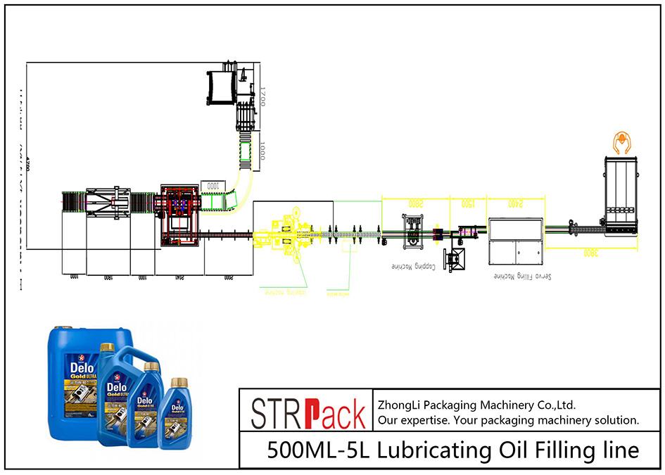 Avtomatik 500ML-5L sürtkü yağ doldurma xətti