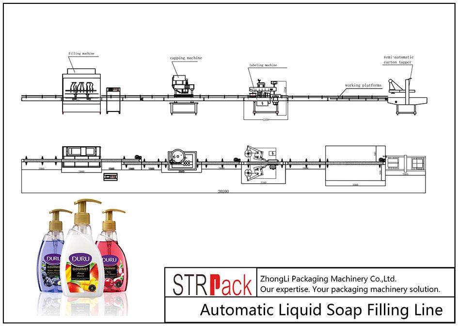 Avtomatik maye sabun doldurma xətti