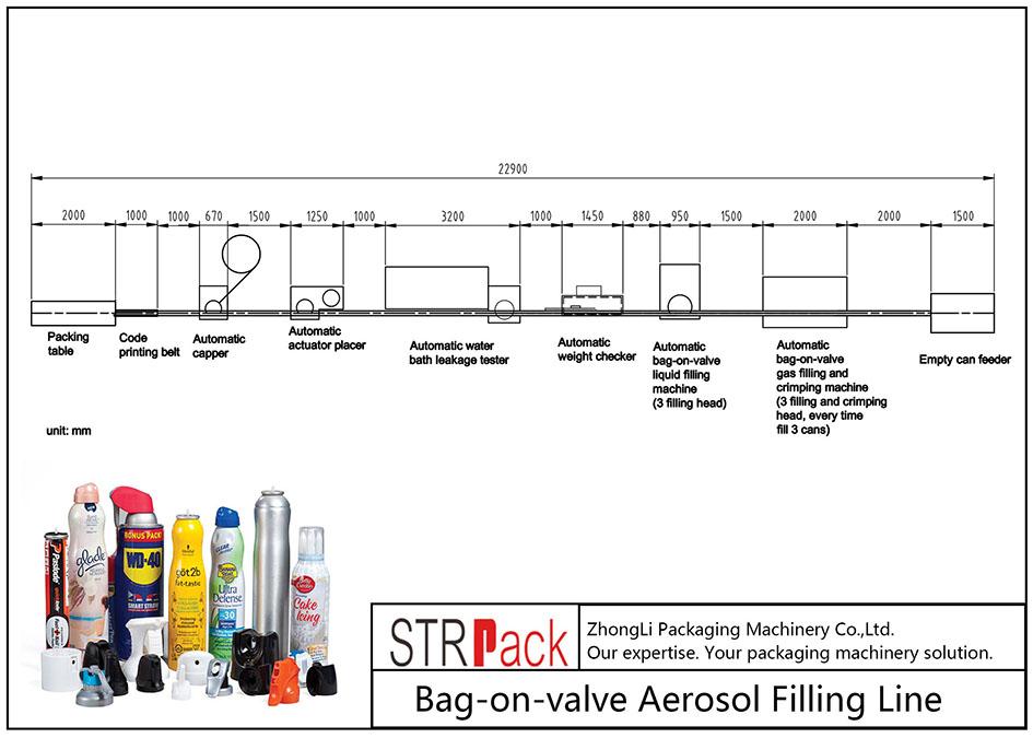 Avtomatik bag-on-valve aerosol doldurma maşını